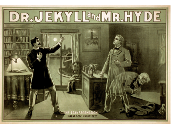 Old poster of Jekyll and Hyde movie