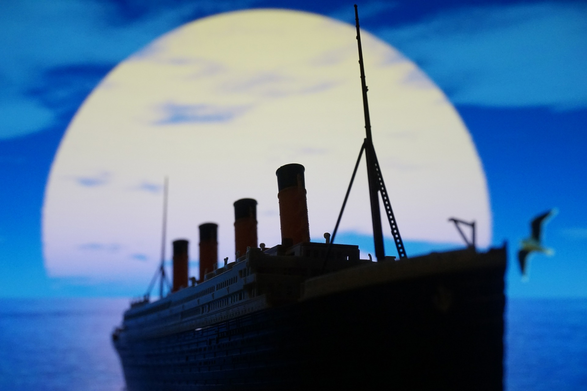 Illustrated picture of the Titanic