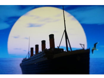 A drawing of the Titanic