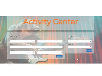 A screen shot of Activity Center App